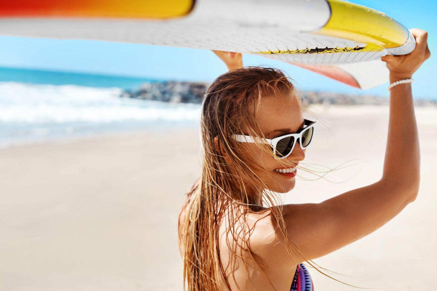 Aussie on beach