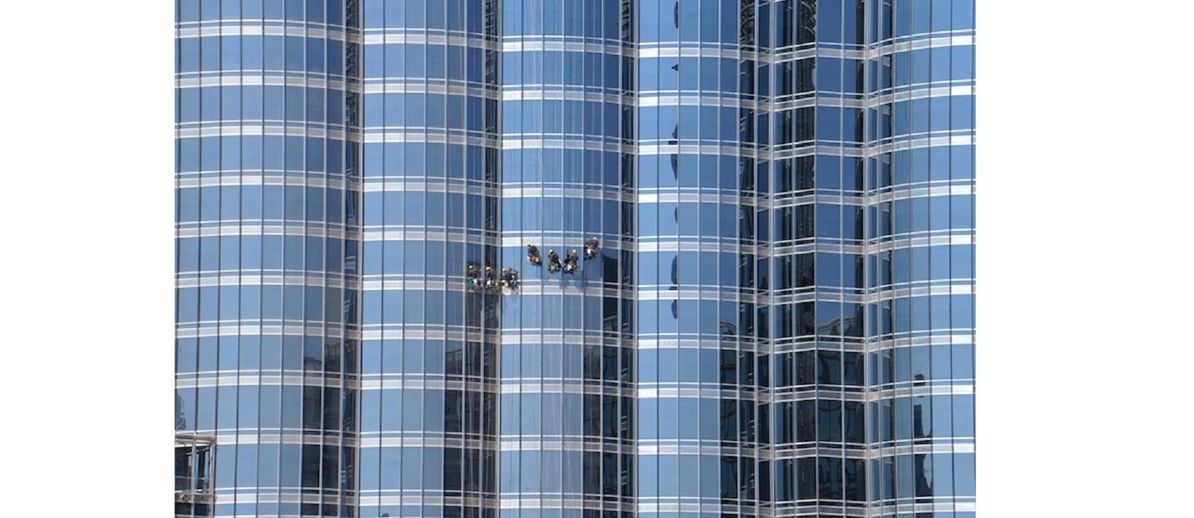 burj khalifa window