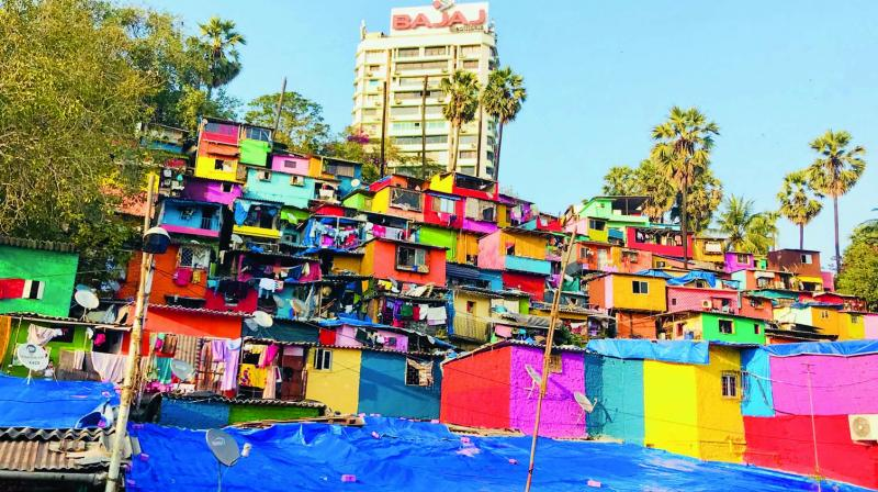 paint india slums
