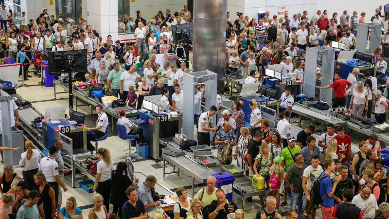 Brexit-airport-queues