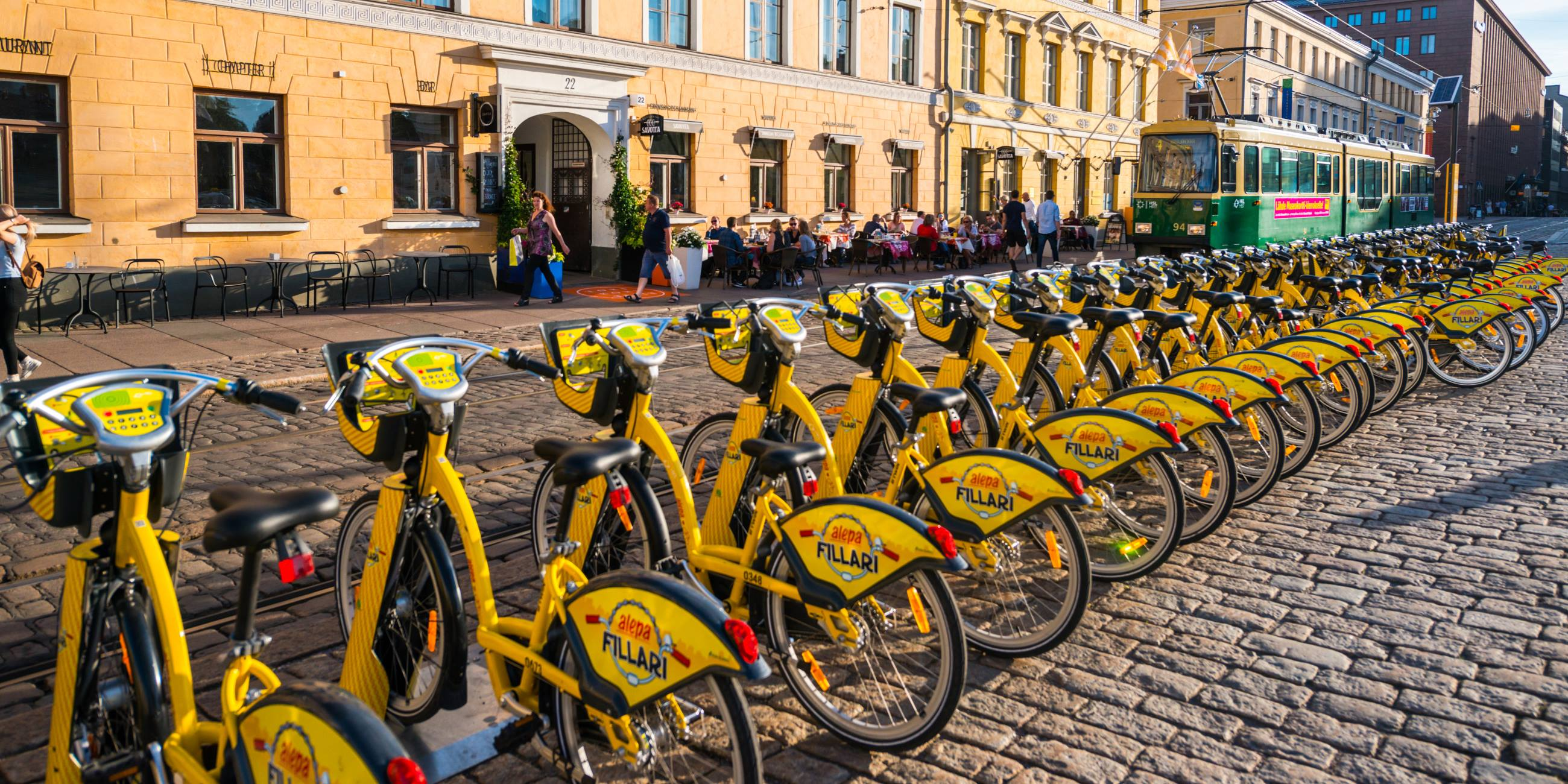 Yellow-City-Bikes-Are-The-First-Sign-Of- Spring-In-Helsinki