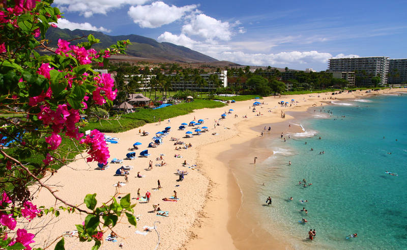 top-best beaches in the united states-kaanapali-beach