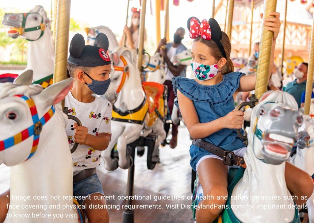 Childrens taking Rides in Disneyland Paris