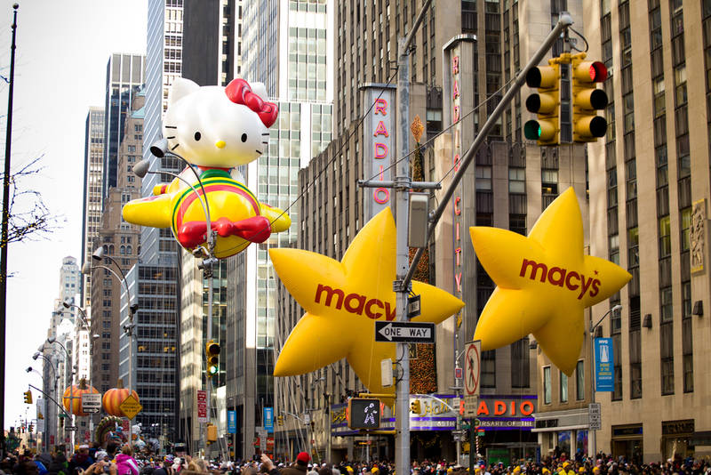 Macy's-day-parade with inflatable Hello Kitty part of the Fall events in New York