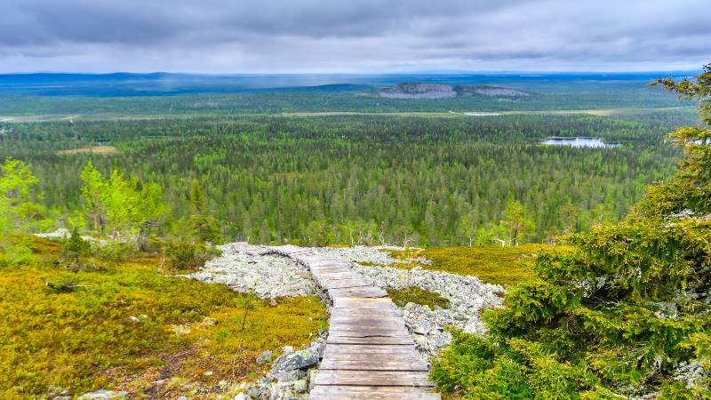 Looking across the lapland landscape now used by Bollywood