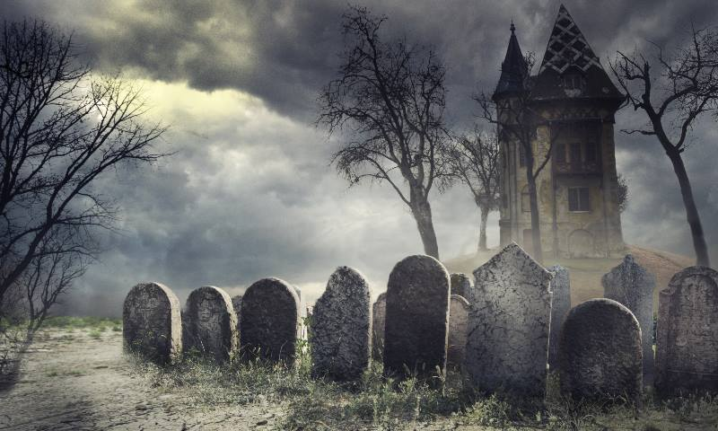 Haunted-house-like-those-used-immersive- Halloween Celebration
