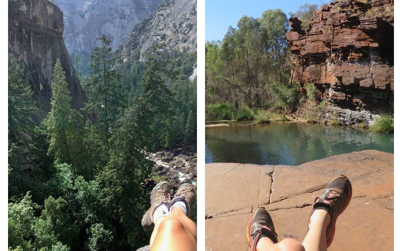 Travelling-alone-hiking-trip-picture-of-legs-resting
