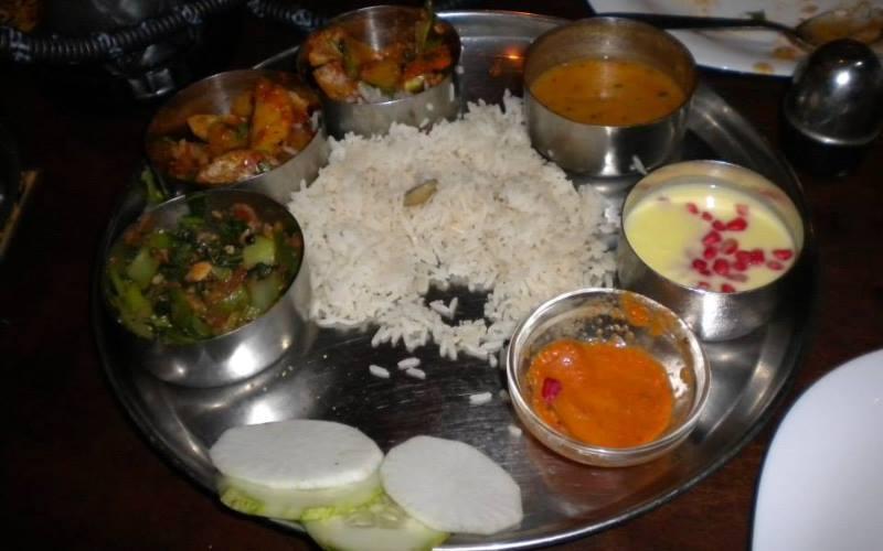 A-plate-of-food-from-Nepal-eaten-in-Kathmandu