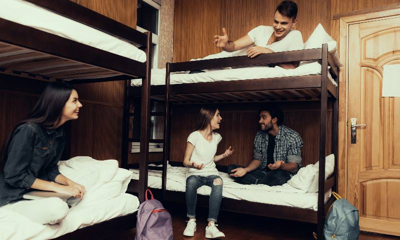 Group-of-people-in-their-room-in-a-Hostel