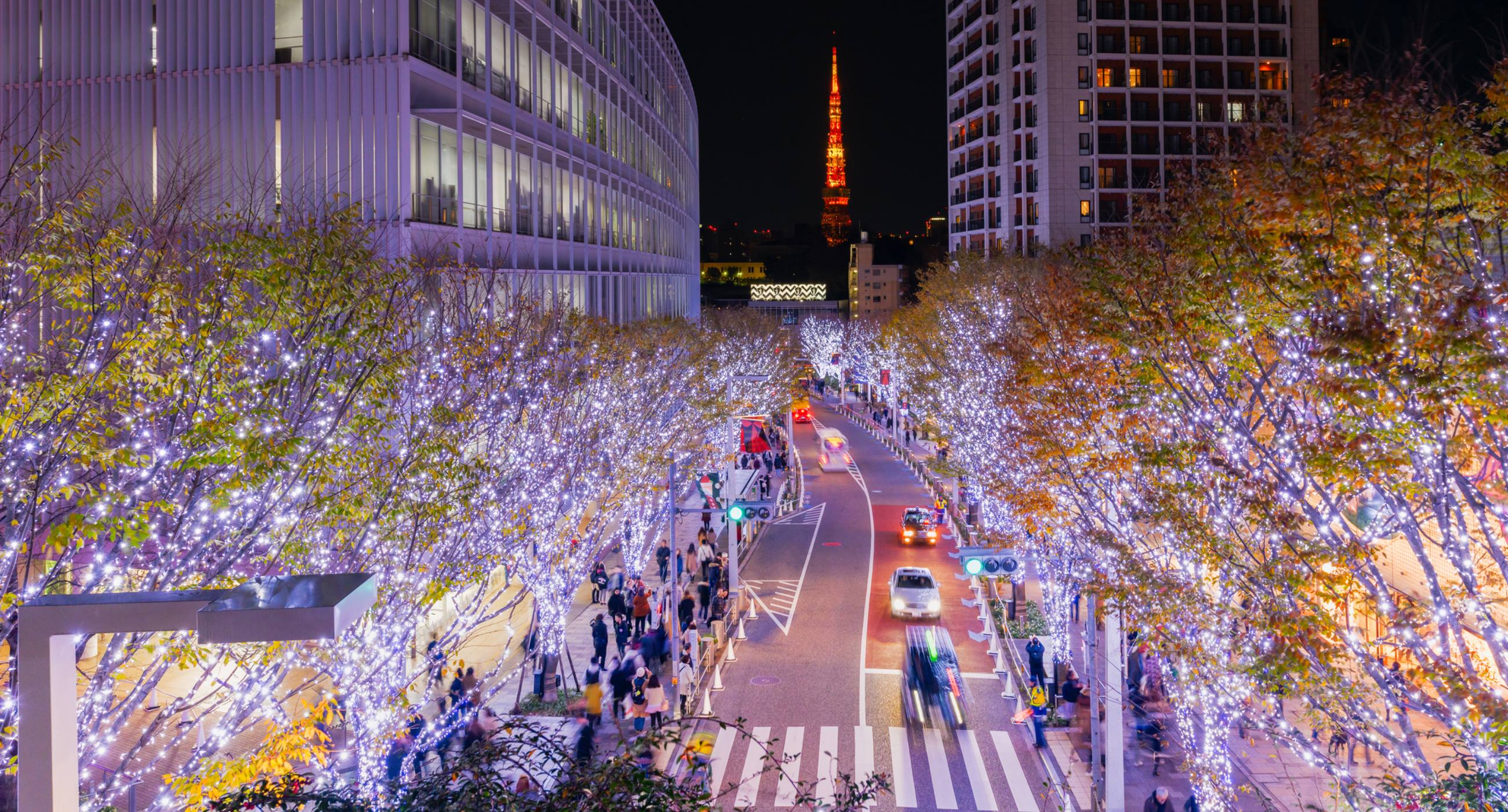 Tokyo-Illuminations-of-the-Christmas-light-at-Roppongi-Hill-with-Tokyo-Tower-background