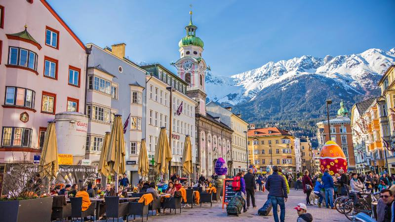 5-places-solo-Austria-innsbruck-with-snow-capped-mountains-in-the-background