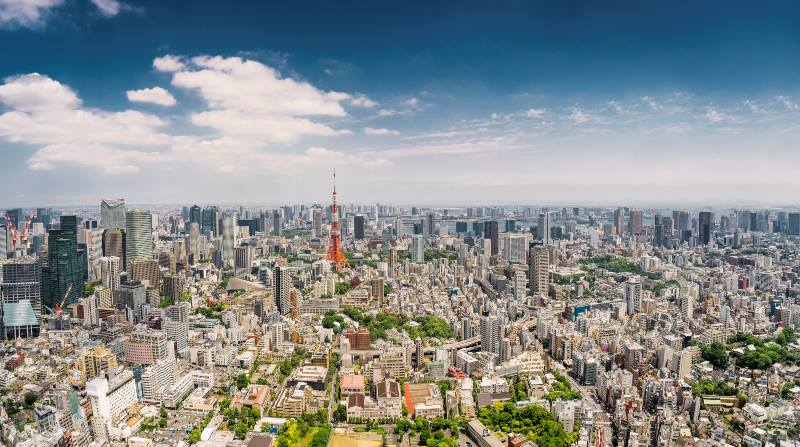 View-of-the-urban-sprawl-of-Tokyo-First-trip-to-Japan