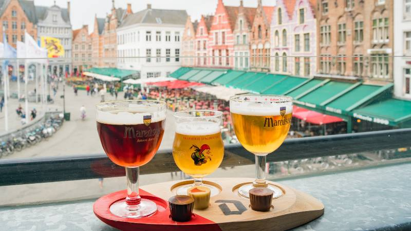 Picture-of-Belgium-beer-glasses-on-windowsill