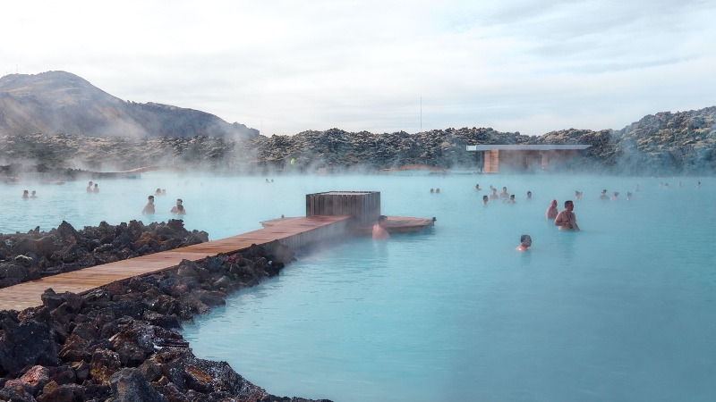 The landscape around Blue Lagoon geothermal area, Iceland