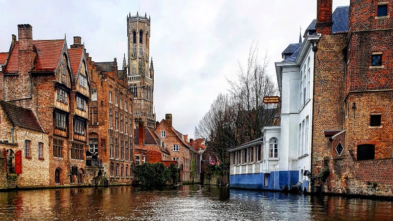View of the canal in Bruges
