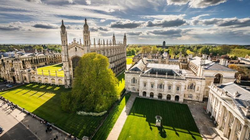 Cambridge Colleges on a sunny day