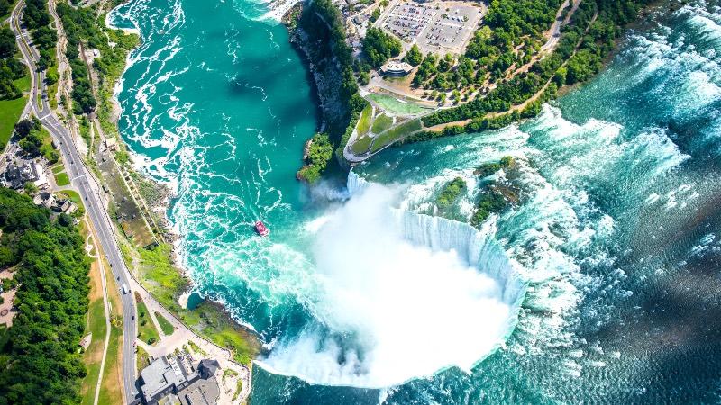 Niagara falls ariel view