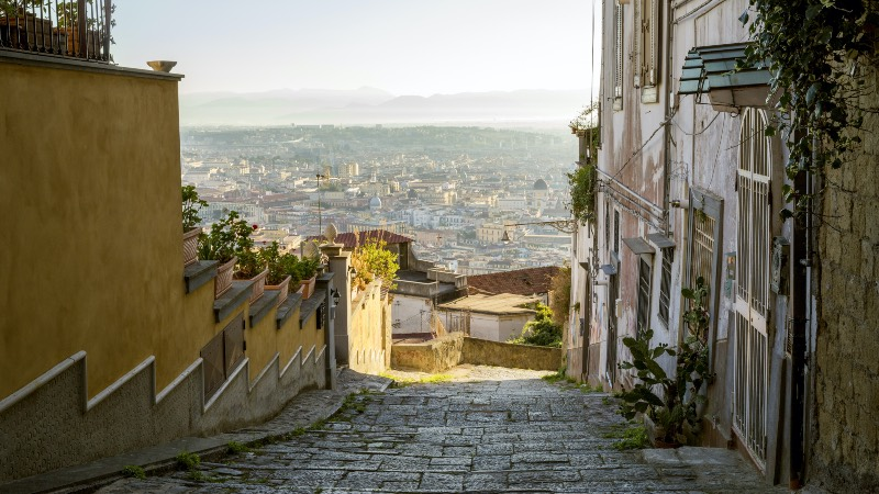 Old street in Naples