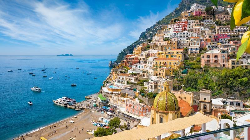 Amalfi coastline near Naples