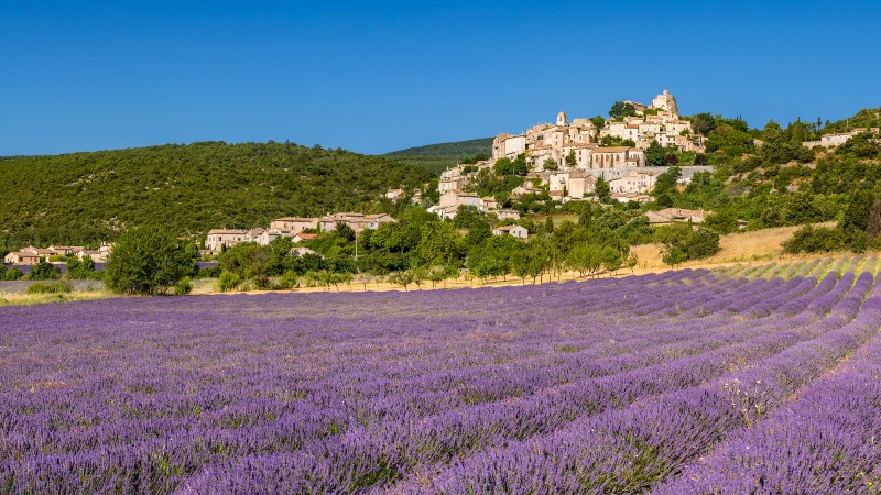 Into Provence from Avignon