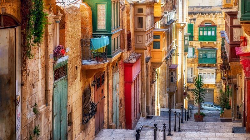 Streets of Valetta in Malta