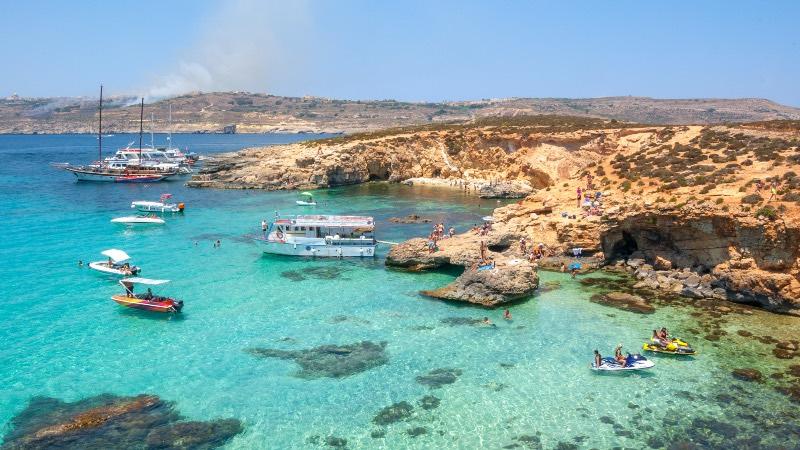 On the coastline of Malta