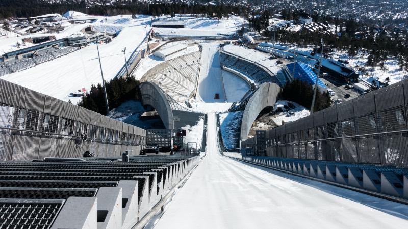 Ski jump near Oslo, Norway