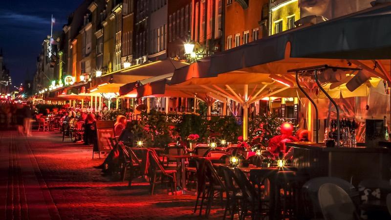 Night time in Copenhagen