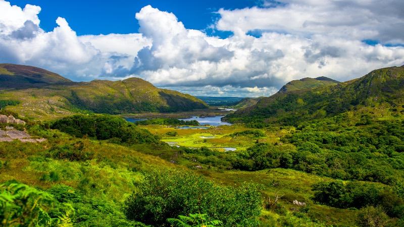 Valley in Killarney National Park near Cork