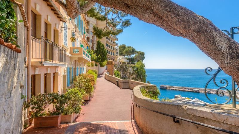 A street in Monaco near Nice