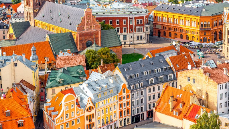 View of the old town in Riga