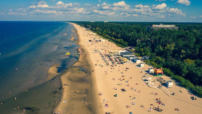 The beach at Jurmala near Riga