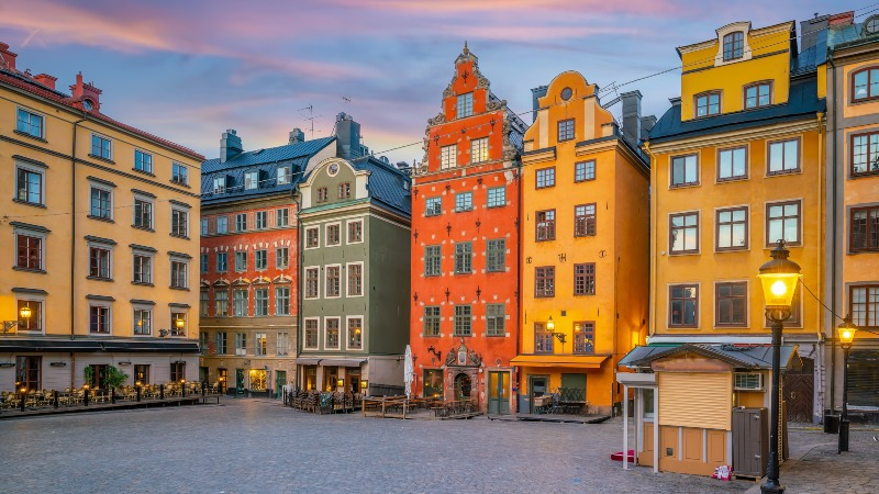 View of the old town in Stockholm
