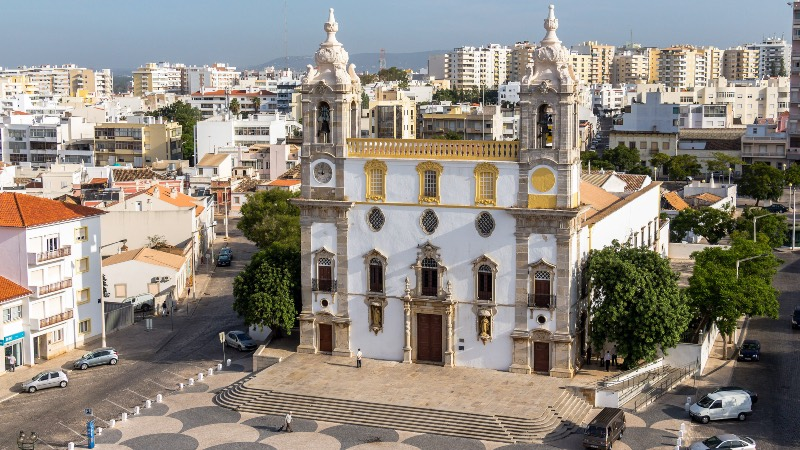 Faro Cathedral in the Old Town near The Algarve