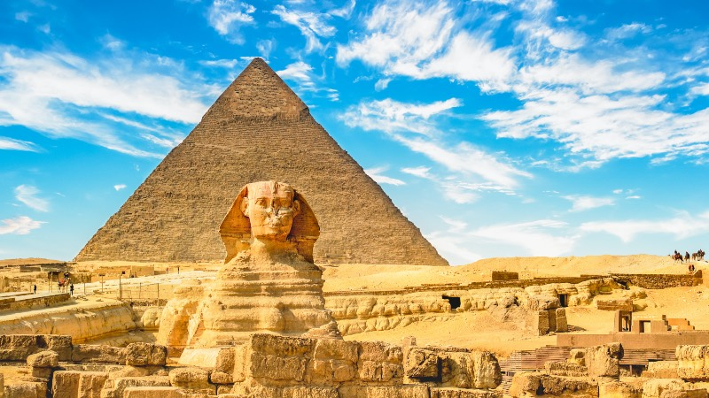 The Pyramids near Cairo